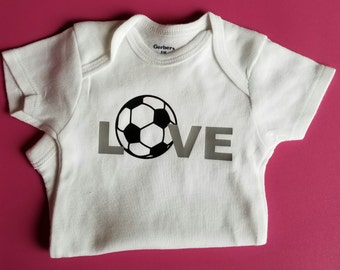 Love Soccer, Soccer Baby Clothes, Baby Shower Gift, Gender Neutral Baby Clothes, Sports Baby Clothes, Soccer Baby, Soccer Coach, Soccer Baby