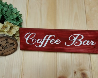 Red Kitchen Signs, Red Kitchen Sign, Coffee Signs For Kitchen, Coffee Bar Sign, Red Kitchen Decor, Kitchen Coffee Decor, Kitchen Coffee Sign