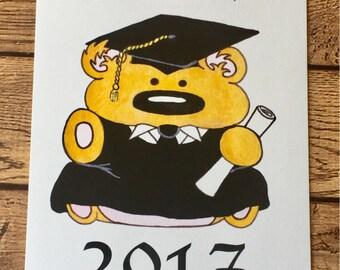 Cute Graduation Card - Graduate Bear