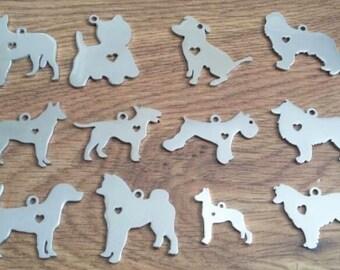 Dog breed key ring,Terrier, Staffie, Spaniel, German shepherd, Bull terrier, Schnauzer, Collie, Beagle, Akita, Great Dane,Alaskan Malamute,