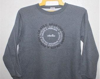 Vintage Ellesse Perugia Italy Casual Pullover Sweatshirt
