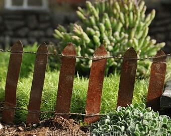 Iron Fence for Miniature Garden, Fairy Garden