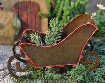 Sleigh for Miniature Garden, Fairy Garden