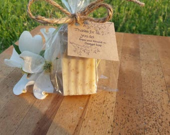 10 Thank you gifts mini soaps with custom tag