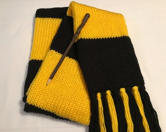 Hufflepuff scarf, Premium Harry Potter scarf, Adult Hufflepuff house scarf, Adult Harry Potter scarf, Adult Hufflepuff scarf, Hogwarts scarf
