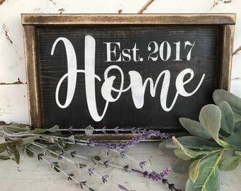 Home / housewarming gift / established date / new home / home decor / gift / friends / real estate / realtor
