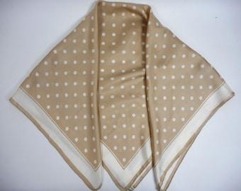 Vintage Loredano Skarf, Silk Scarf, Polka Dot Scarf, Square Scarf