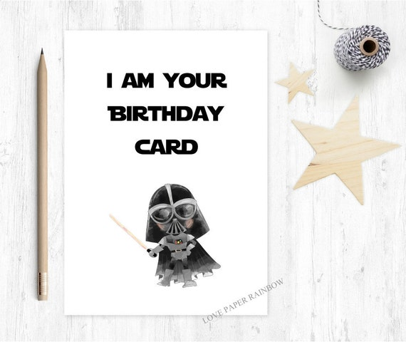 funny star wars birthday card this is your birthday card