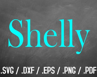Shelly Font Design Files For Use With Your Silhouette Studio Software, Svg Download, SVG Font, Png Font, Block Font Silhouette, Elegant Font
