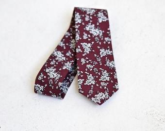 Rosewood Floral Skinny Tie