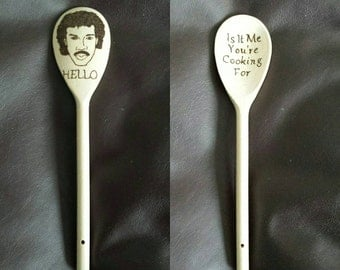Wooden spoon inspired by Lionel Richie