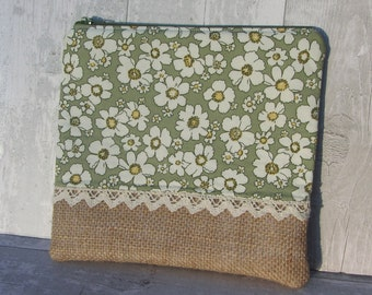 Handmade Fabric Makeup Bag - Toiletry Bag - Makeup Organizer - Makeup Storage - Travel Bag - Cosmetic Bag - Gift for Her - Storage Bag