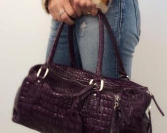 Patent leather handbag Tote Bag purple violet