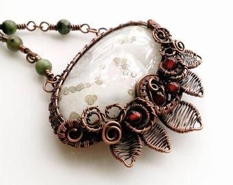 Vintage Inspired Solar Quartz Necklace