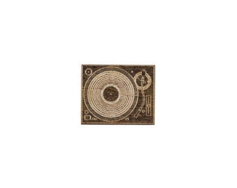 Record Player Laser Cut Lapel Pin