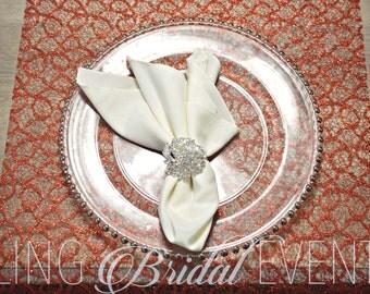 Prestige Crystal Napkin Rings, Crystal Napkin Rings, Silver Napkin Rings, Celebrity Weddings, High End Home Decor