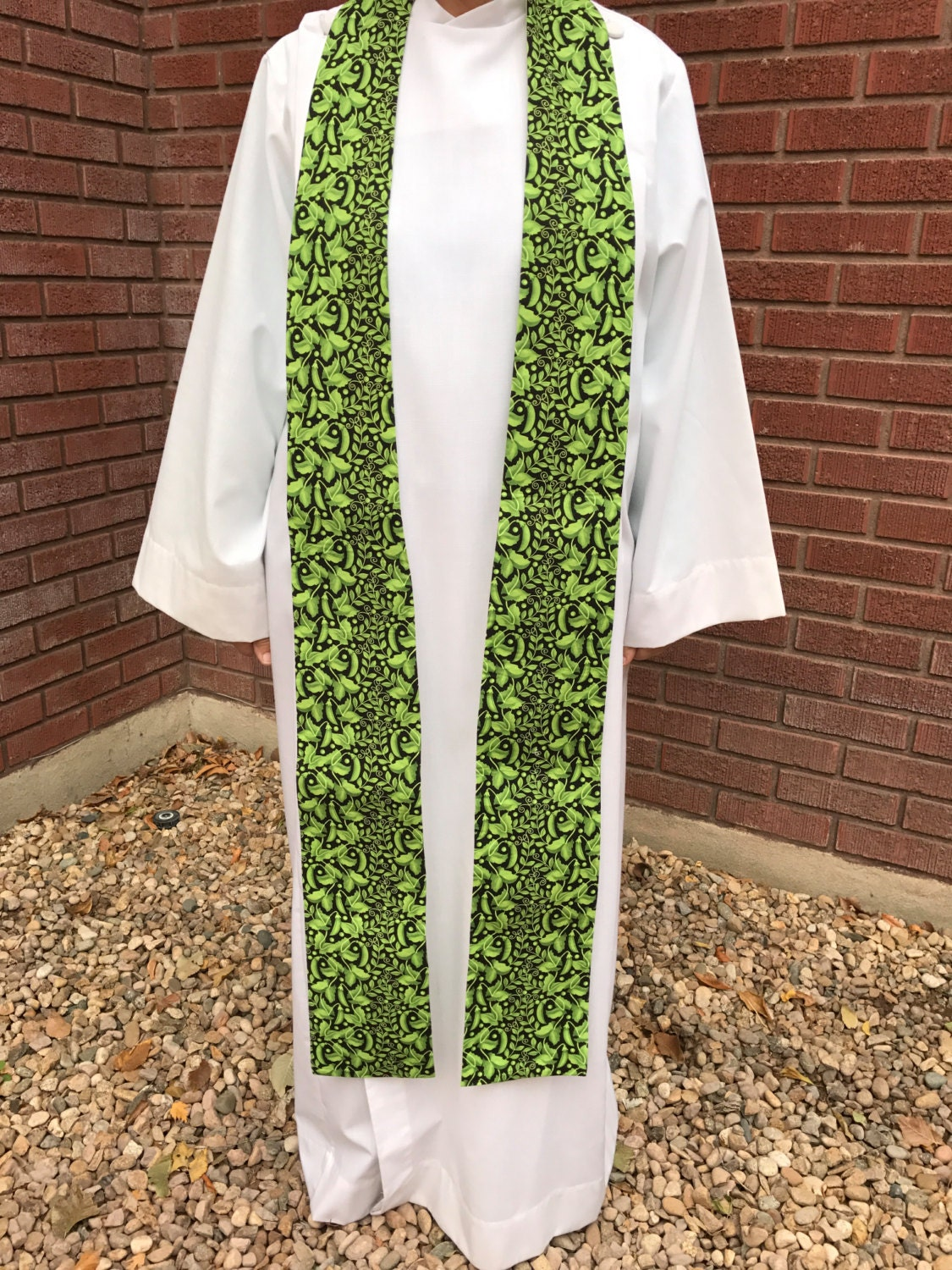 Green Garden Clergy Stoles Ordinary Times Clergy Stole
