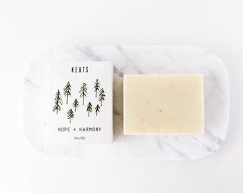 Cedarwood + Lime. All Natural Soap, Organic, Vegan, Exfoliating Soap.