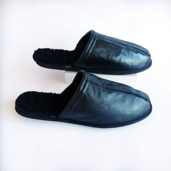 c6949c5b21 85%OFF Men slippers black leather slippers luxurious men shoes ...