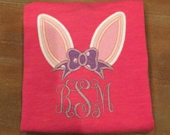 Momogram bunny ear shirt