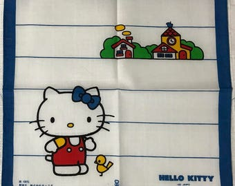 Sanrio Hello Kitty 1976 Vintage child's handkerchief Made in Japan