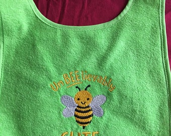 "Beautiful and ""UnBEElievably"" green bib"