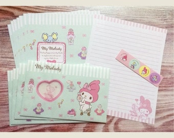 My Melody Stationery Set with Window Envelopes