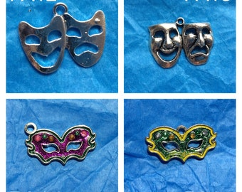 Theatre Mask Charms