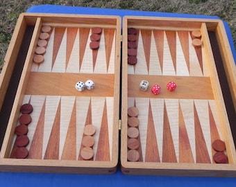 Handcrafted Red Oak Backgammon Board