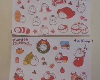 STICKERS CHRISTMAS MOLANG