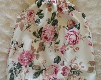 Seaside playsuit 'Vintage rose'