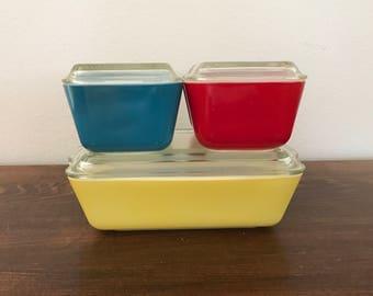 Primary Color Pyrex Refrigerator Set