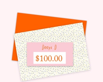 Gift Certificate 100 aud - print out straight away - can be used throughout 2017