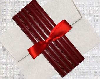 Sealing Wax Sticks USA - Dark Red Wax Sticks - Sealing Wax - 5 Wax Sticks per Bundle