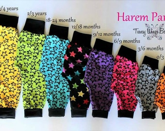 Fleece harem pants (Great for over disposables too)