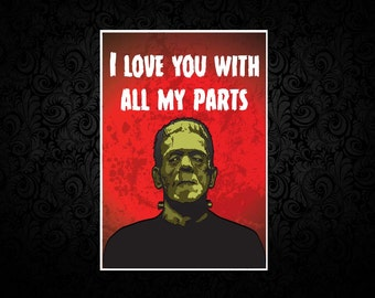 Frankenstein - Digital Love Card