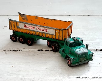 Vtg Lesney DODGE TRUCK tipper truck Lorry Dodge Tractor Matchbox Kings Size series lesney truck diecast vintage lesney lorry vtg D3/590