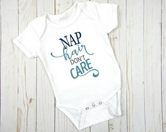 Nap Hair Don't Care baby girl onesie