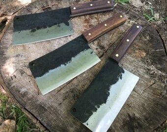 Butcher knife - meat cleaver-chef knife -hand forged knife - hatchet - kitchen knife-cleaver-butchers knife-meat chopper-meat knife