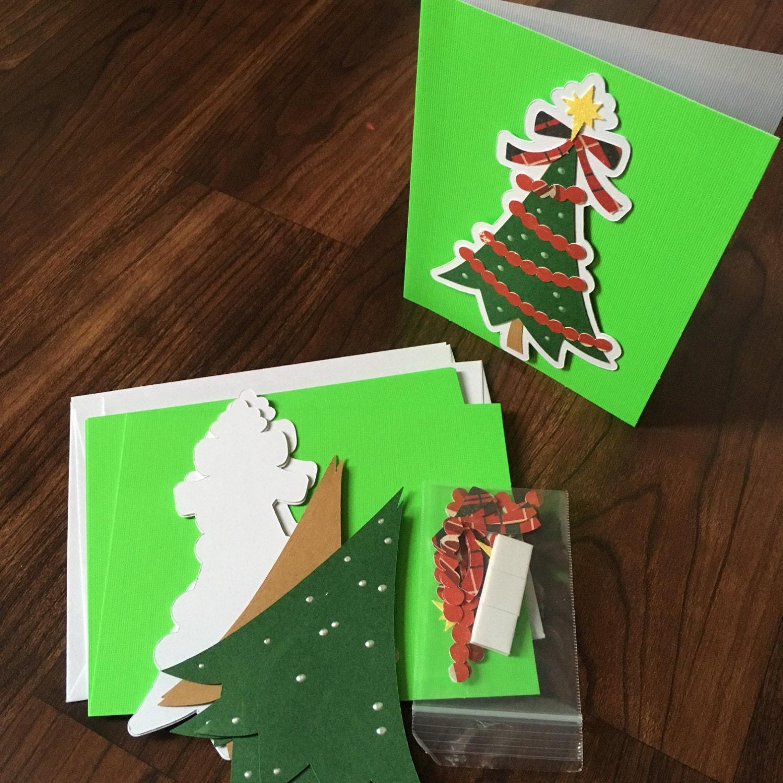 DIY Card Making Kit Christmas Holiday 4Pk Blank By