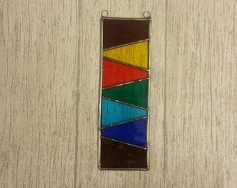 Rainbow Stained Glass Suncatcher Window Decoration, Gift for Him, Weather Lovers Gift