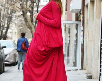 Maxi Oversize Summer Kaftan, Cotton Long Sexy Dress, Extravagant Party Dress, Fashion Dress by SSDfashion