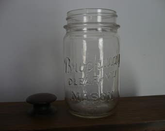 Brockway Clear-Vu Mason Jar