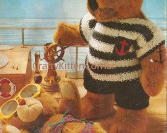 Vintage Teddy/Doll Beachwear/Summer Clothes Knitting PDF Pattern