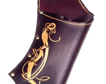 Embossed and Painted Leather Field Quiver