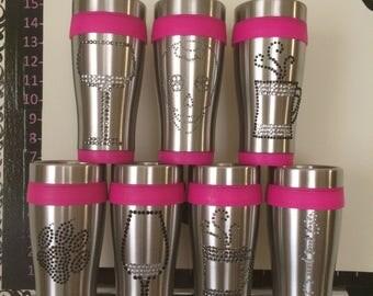 Rhinestone travel mugs