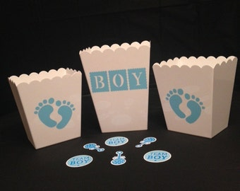 Baby Shower - Candy Bar Containers - Boy