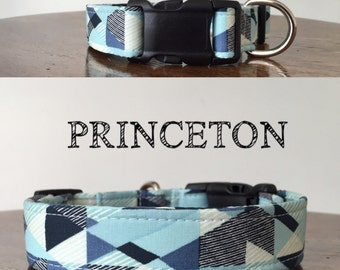 Princeton   Abstract Handmade Collar, In many shades of Blues