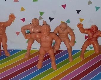 Lot of 5 Vintage 1980s Remco WWF Wrestling Figures (play wear)