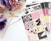 Little Miss Vertical Weekly Kit-- Matte Planner Stickers